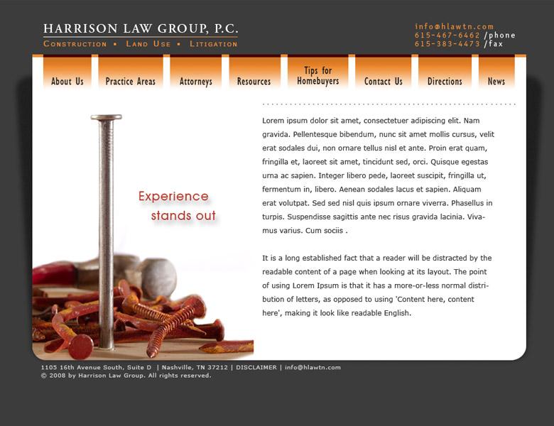 Custom design / build: Harrison Law Group