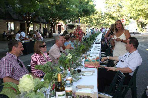 Part of the community - First Annual Dinner at Dusk in Downtown Turlock.