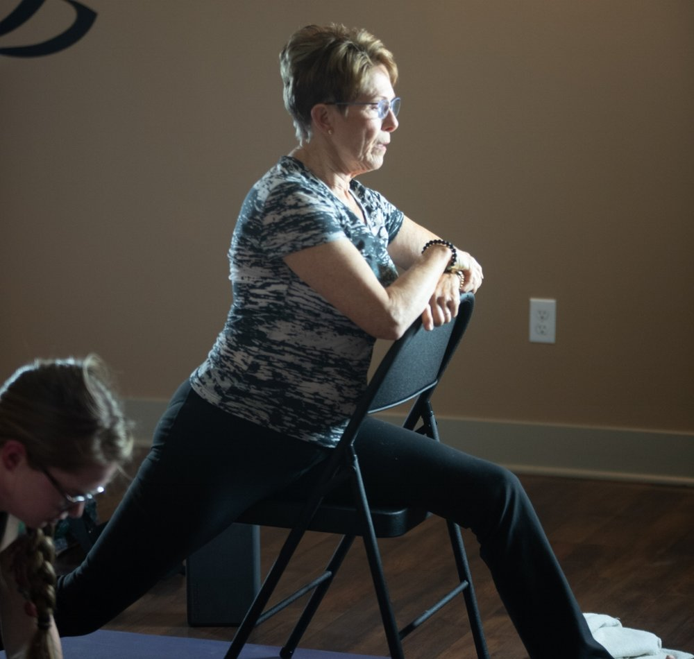 Adapted Yoga - A class that relies on props and modifications to adapt to your needs – chairs, blocks, bolsters, blankets, and straps may be incorporated.Moving at a relaxed pace, this class is accessible and adapts to anyone with a physical restriction or contraindication. Appropriate for all levels including first-timers and those with limitations. For adults or kids 15 and up.
