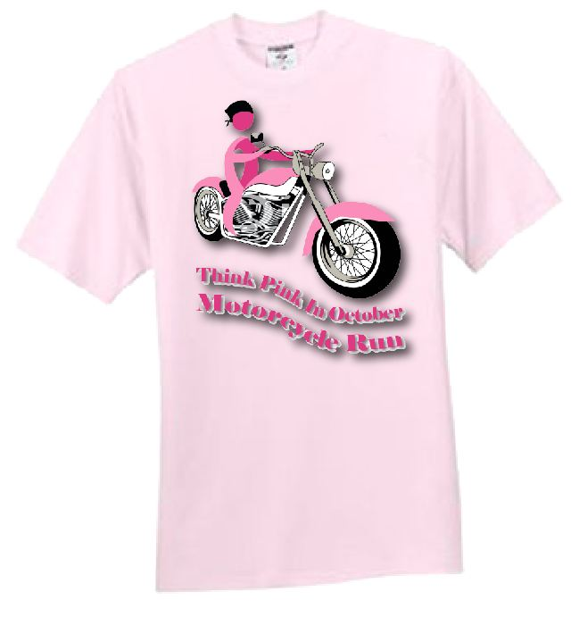 MotorCycle Run Pink T-Shirt.jpg