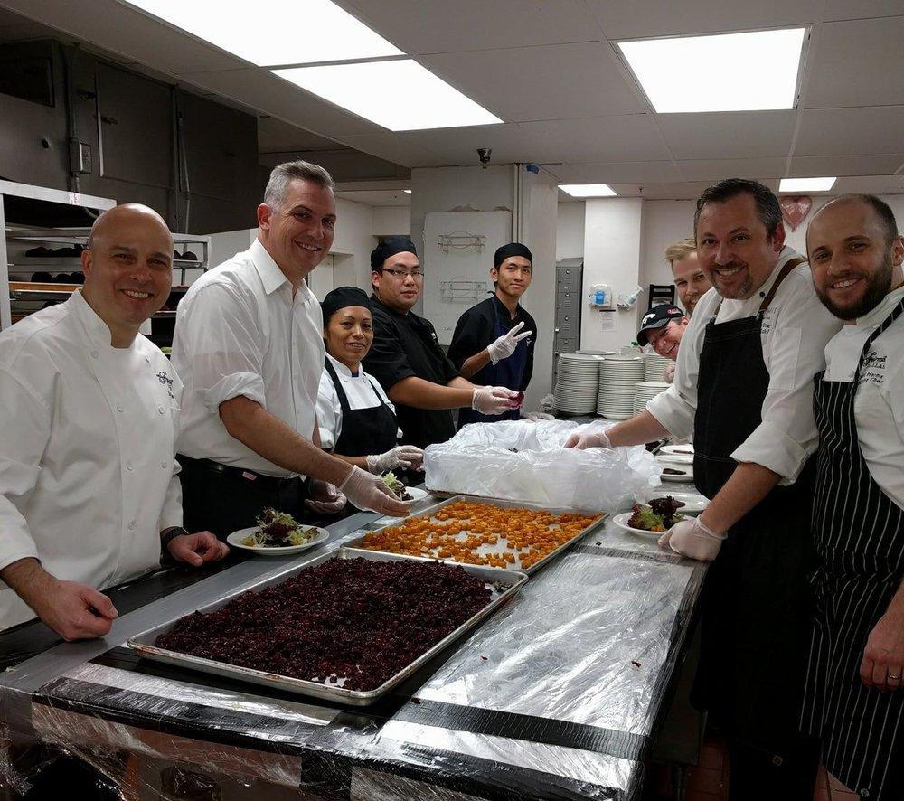 Kosher food being prepared at the Fairmont!