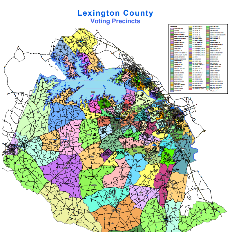 Lexington County Precinct Map