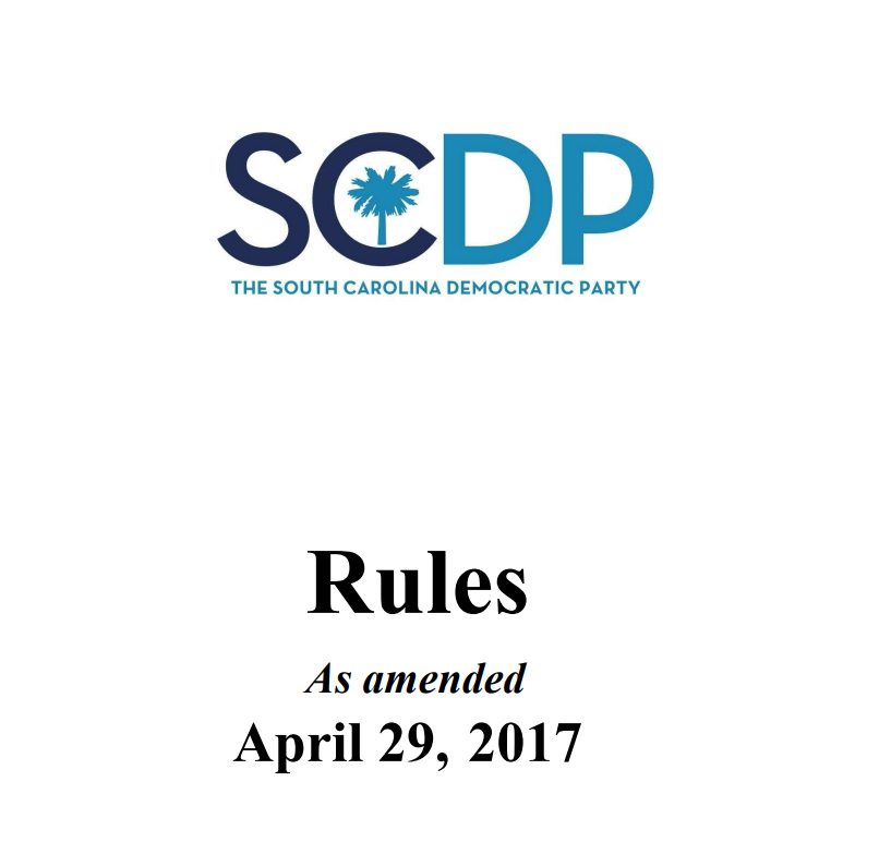 SC Democratic Party Rules