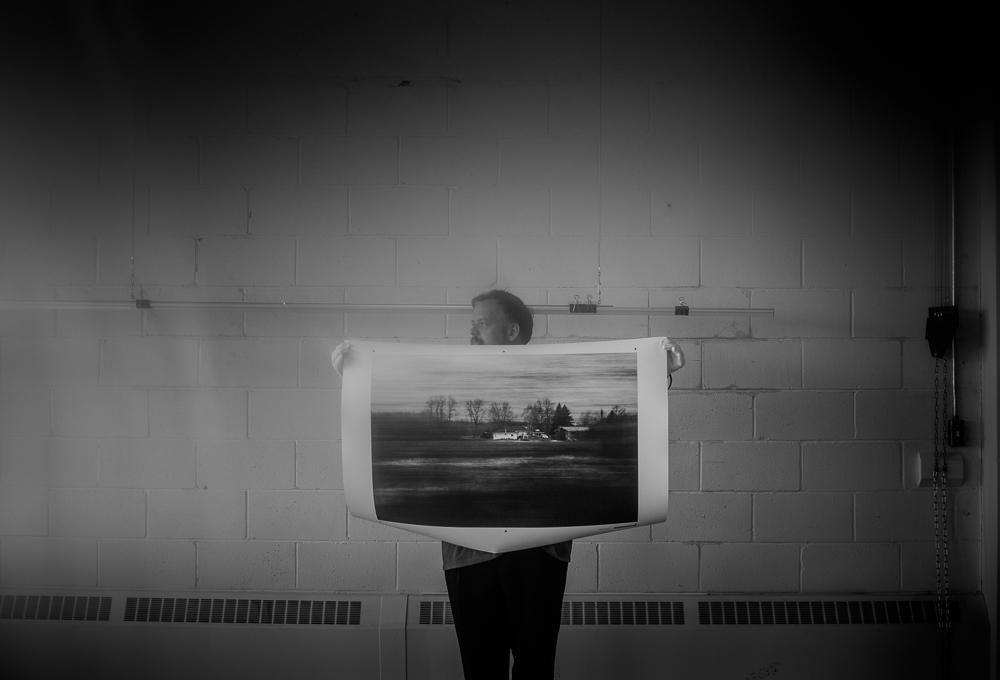 Sandra Larochelle | Processus d'impression, installation et mise en place finale  Disparition