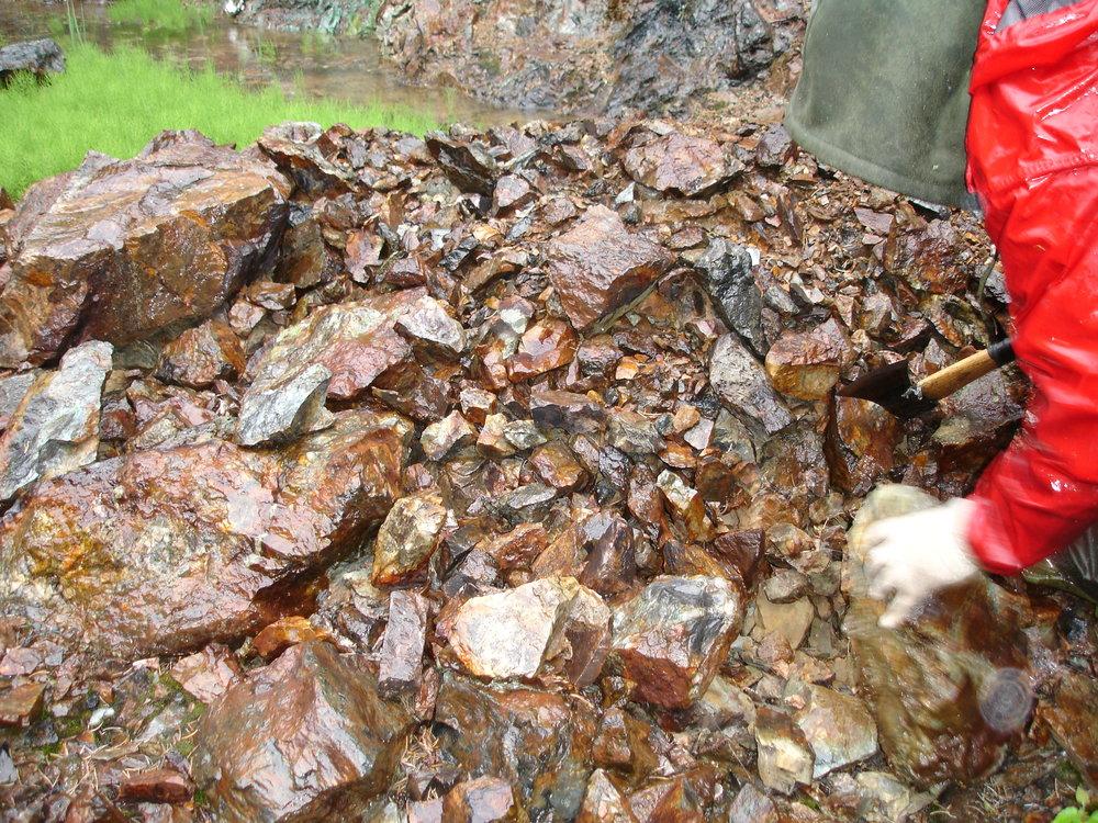 examining outcrop.JPG
