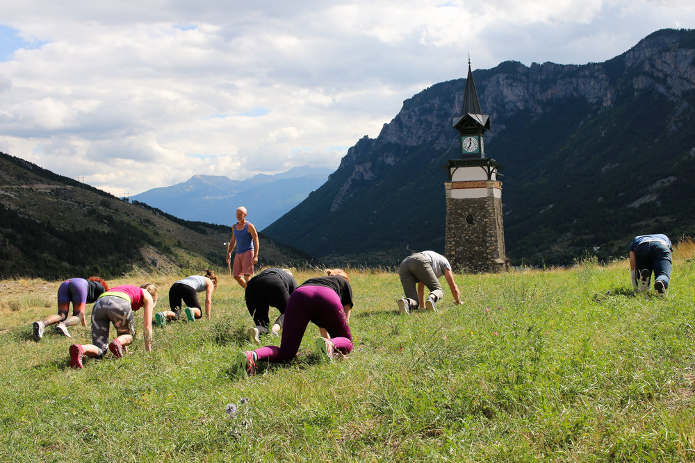 Make like a bear when you're in the mountains - building strength in locomotion classes.