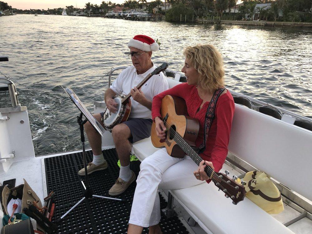 Ed and Thia rocking the guitar and banjo!