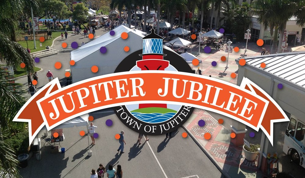 Jupiter Jubilee - The Jupiter Jubilee is an annual community event put on by the Town of Jupiter for area residents. The Jubilee typically has entertainment, civic, educational, and cultural components.Each year, the Jubilee highlights Jupiter's unique character, history, community and natural treasures. In the spirit of conservation, the Jubilee is a Green event, and vendors, exhibits and attendees are encouraged to recycle, re-use, and conserve.Saturday, February 3rd11am - 4pmJupiter Jubilee Information