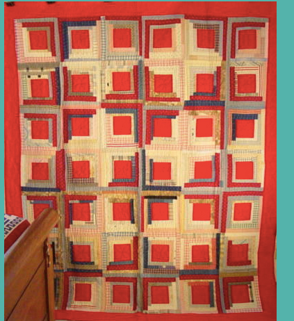 An example of a traditional Log Cabin Quilt