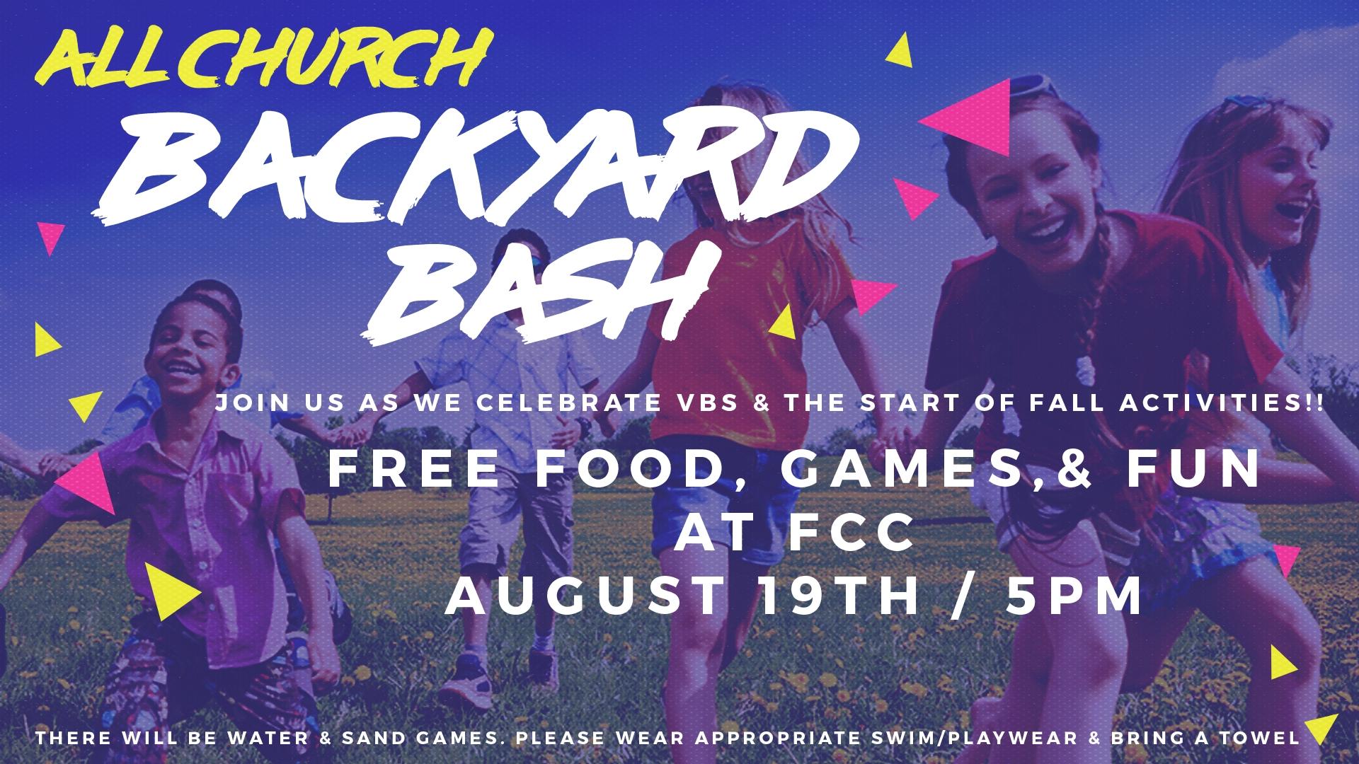 All Church Backyard Bash Fcc Washington