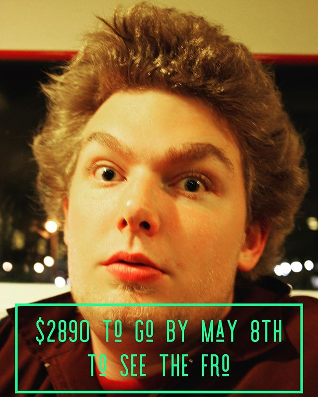 20 year old Aaron Pier rocking the fro. Students you have raised $365 so far for Ninos! Bring your money tomorrow to help buy shoes for the Kids of Ninos!