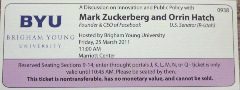 This was pretty #BadAss, it was cool to see Mark Zuckerberg in Person