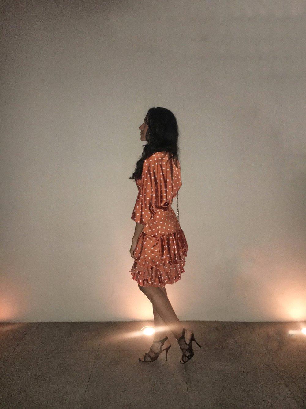 Wearing: Nasty Gal  Dress | Stella McCartney Heals  Similar