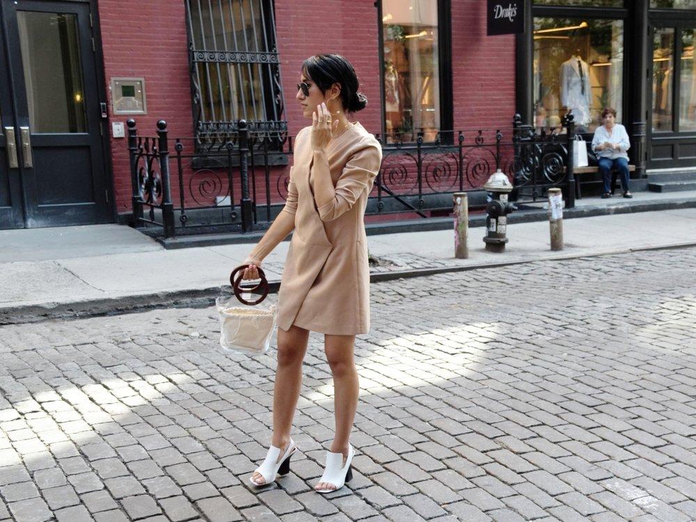 Wearing:  Cynthia Steffe Dress, Celine shoes