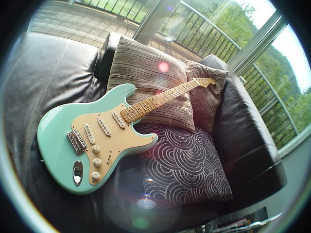 WIDE-ANGLE VIEW OF OUR FAVORITE STRATOCASTER BUILD AND COLOR