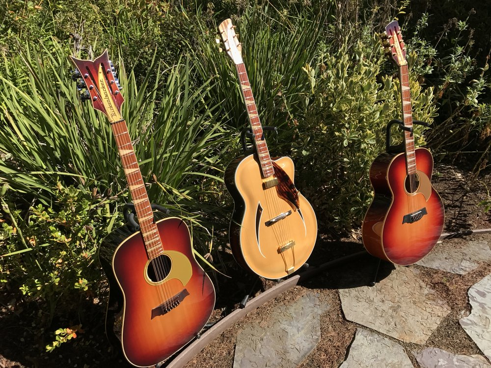 "THE JUMBOS AND JAZZBO ARE ALL 16 1/4"" GUITARS"