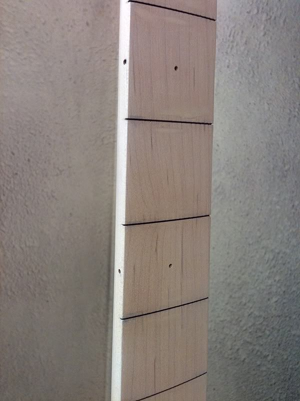 MAPLE FRETBOARD, TINY DOT FRET MARKERS