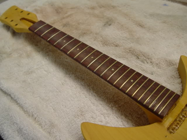 NEWLY-CROWNED, -SEALED, AND -FRETTED FRETBOARD