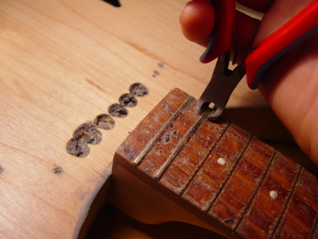 FRETS PULLED TO RESTORE FRETBOARD