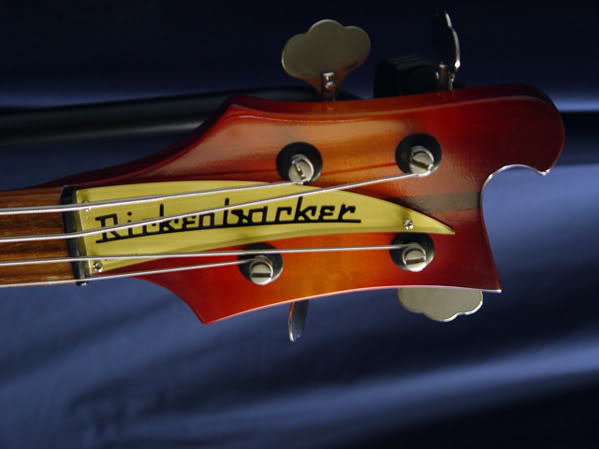 FRONT OF HEADSTOCK WITH GOLD NAMEPLATE