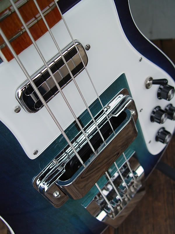 DETAIL OF FRONT SHOWING CLEAR PICKGUARD PAINTED SECOND SURFACE