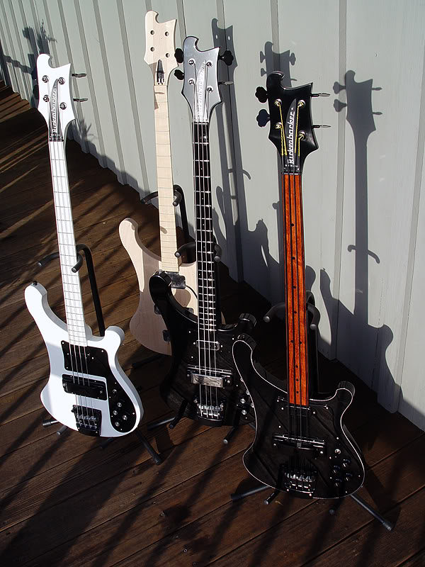 FOUR VERY RARE RICKENBACKER BASSES