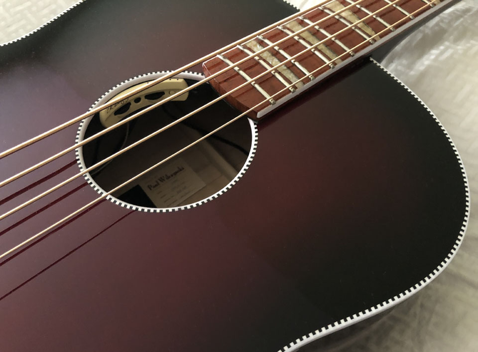 MODEL 7001 ACOUSTIC BASS IN WINEBURST FINISH
