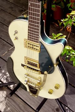 "IVORY AND CADILLAC GREEN GRETSCH DUO JET ""DE VILLE"""