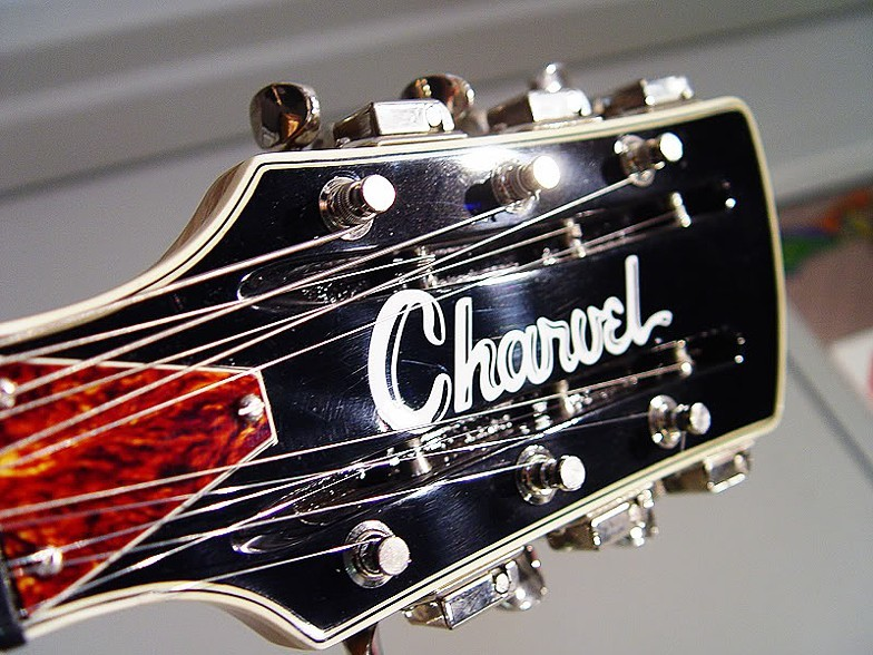 BOUND HEADSTOCK SIMILAR TO RICKENBACKER WITH RECREATED LOGOTYPE