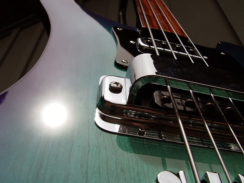 FRETLESS 4003 CONVERSION IN AQUAGLO FINISH