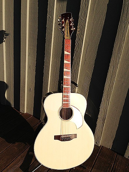THE FINISHED COMSTOCK 12-STRING HAS TERRIFIC PRESENCE