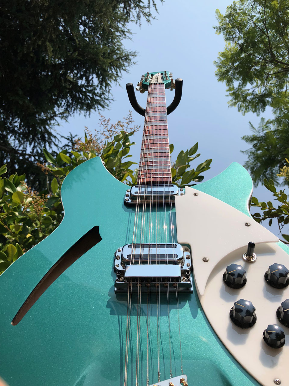 WORM'S-EYE VIEW DISPLAYS ICONIC RICKENBACKER BODY SHAPE