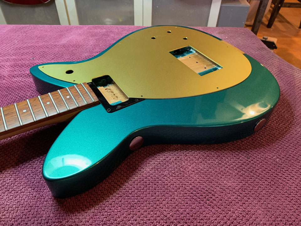 FITTING THE NEW GOLD-ANODIZED ALUMINUM PICKGUARD