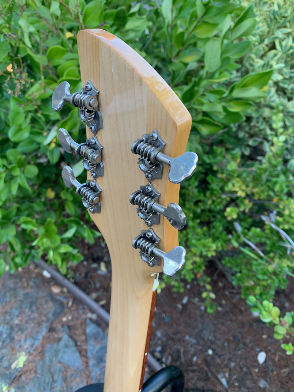 ORIGINAL GROVER TUNERS WERE ULTRASONICALLY CLEANED AND RE-USED