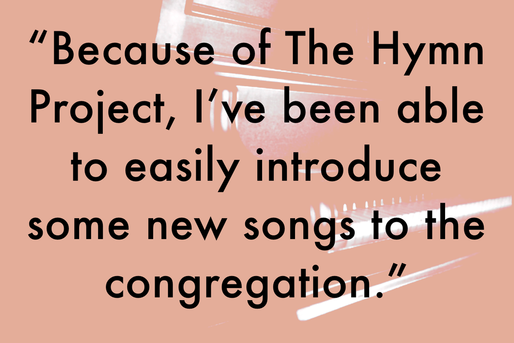 Introduce new hymns to the congregation. Piano hymns on CD