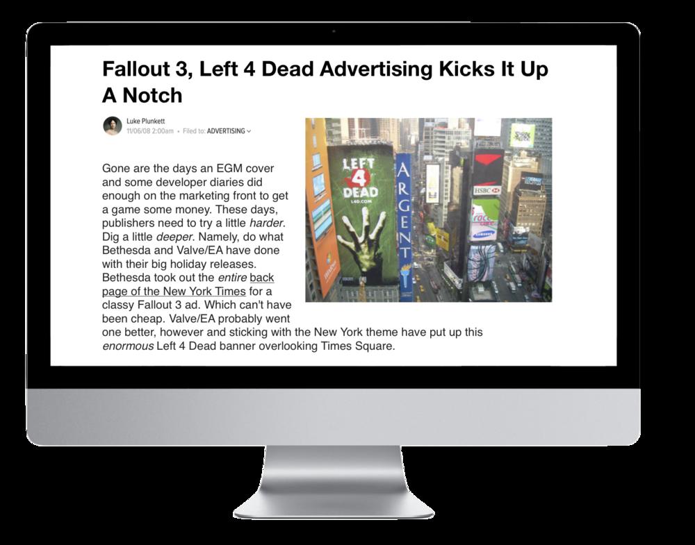 Left 4 Dead Article _ Kicks it up a notch