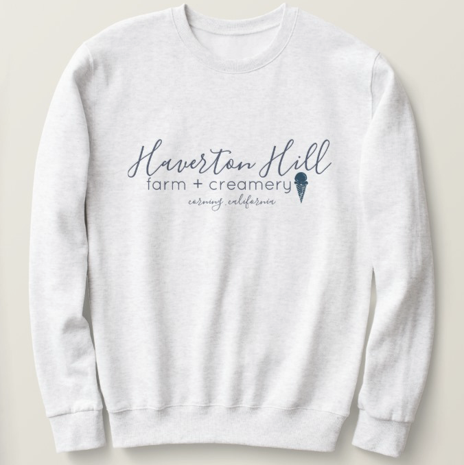 UNISEX SWEATSHIRT  $30-  ASH GRAY with NAVY BLUE  ADULT S-3X