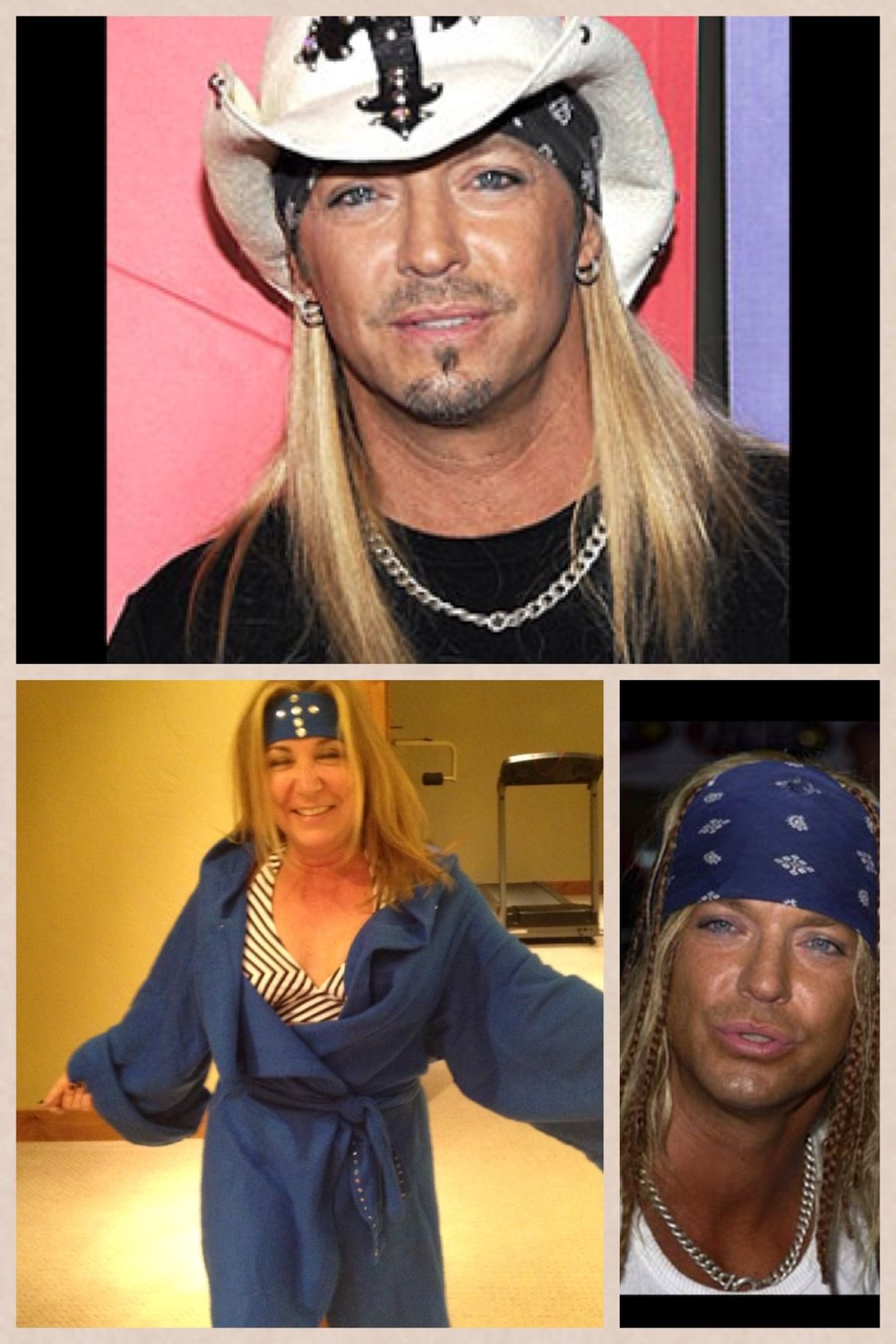 Terry as Brett Michaels in the Snuggle competition