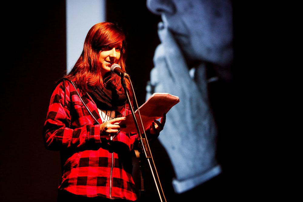 Sabrina Maar auf dem fünften CareSlam. Foto: Thorsten Strasas