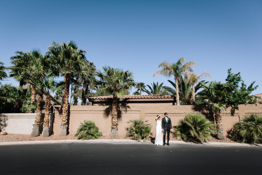 Las Vegas Photojournalistic Wedding Couple Portrait