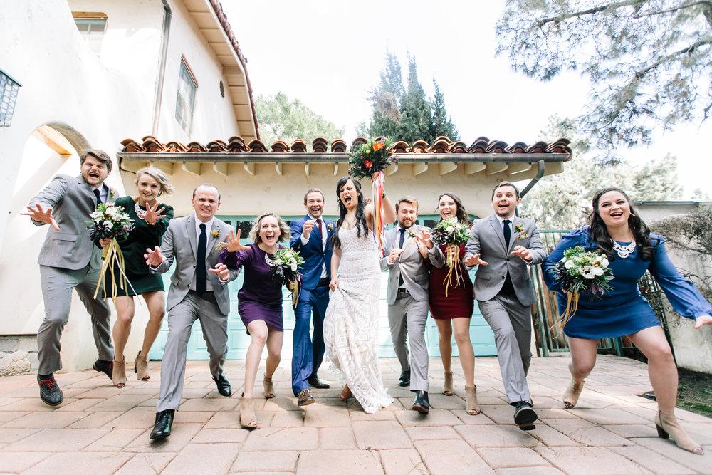 wedding party celebrate