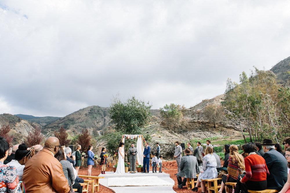 Wedding Ceremony at Reptacular ranch