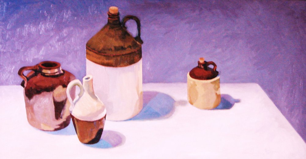 JUGS - THE APPLE ON THEIR EYE OIL ON CANVAS 14X 22.JPG