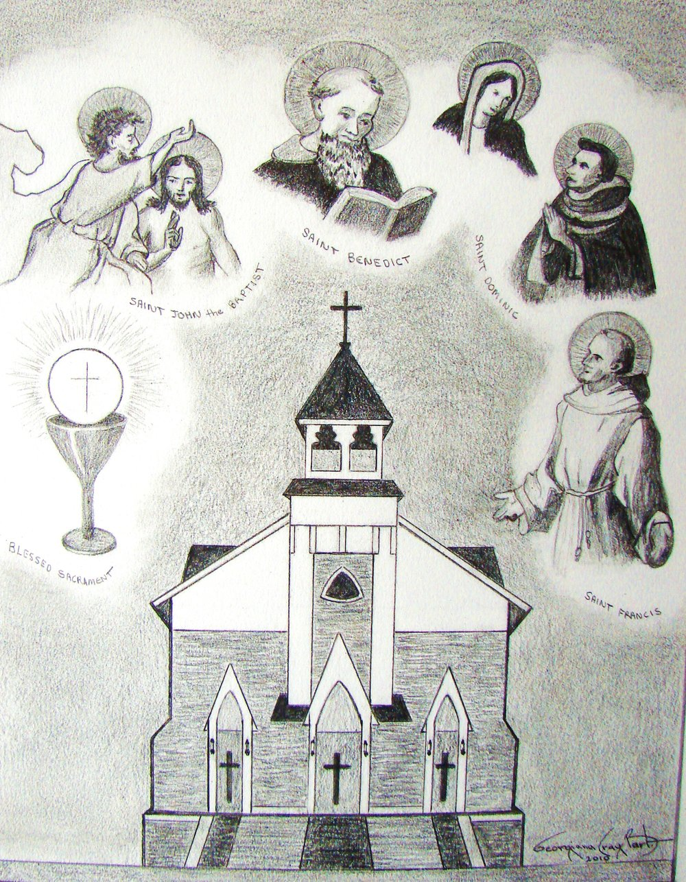 Booklet cover for Merger of churches into St Benedicts.JPG