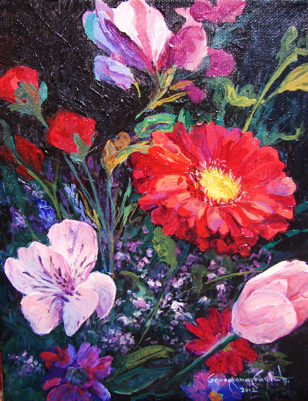 Mothers Day Flowers #6 _acrylic_8x10.jpg..jpg