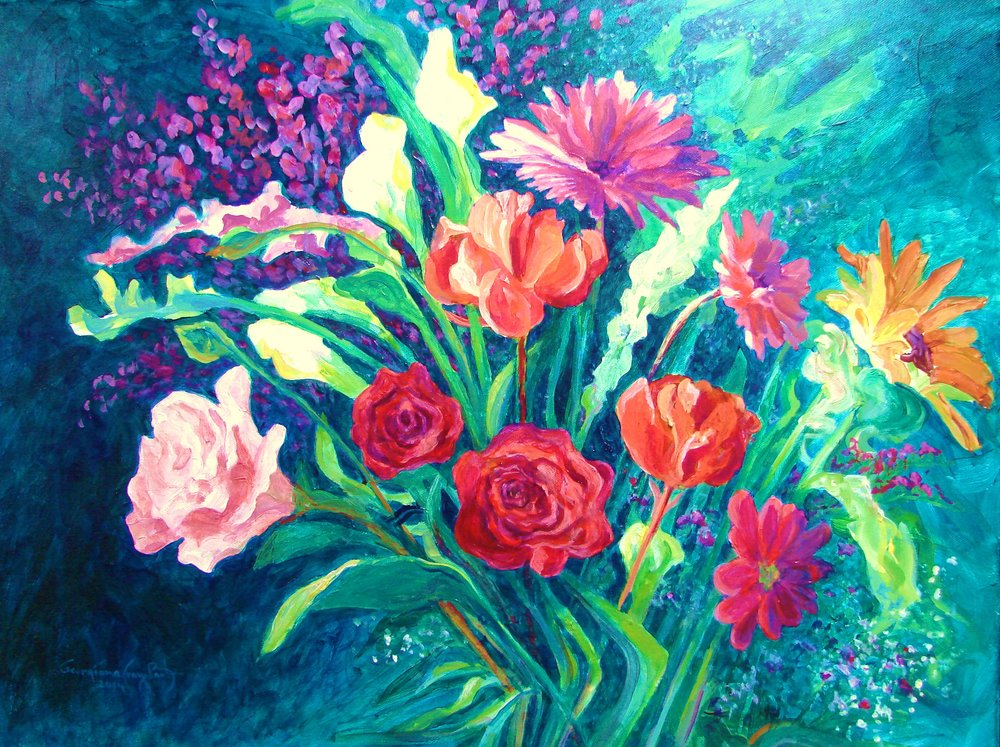 Mother's Day Flowers #15_Georgiana Cray Bart_ Acrylic_ 2014.JPG
