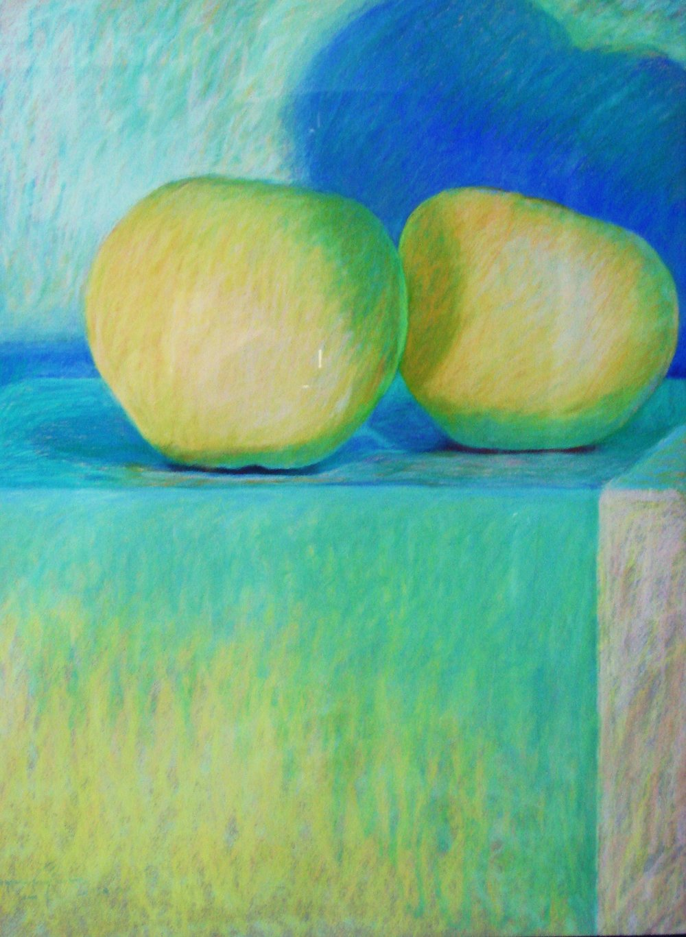 Granny Smith Big - Cuddling pastel37x37.JPG