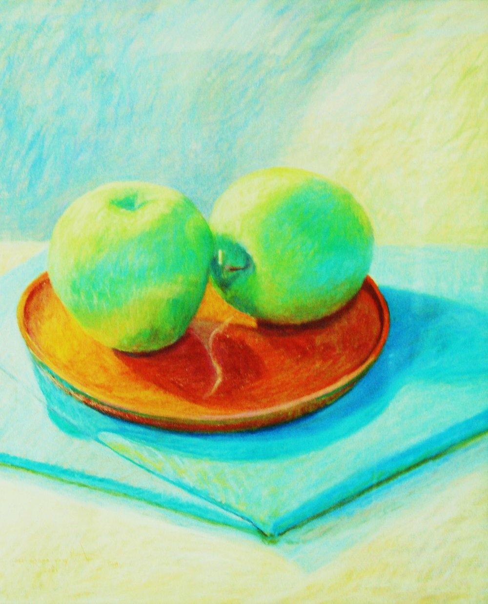 Granny Smith Big - Sledding pastel 31x28.JPG