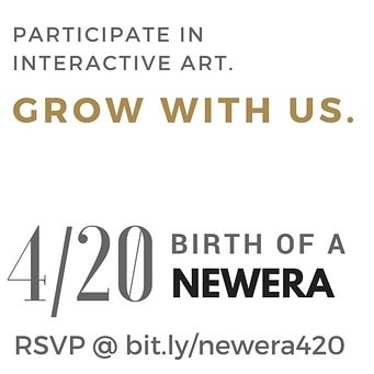 Join us this Friday, 4/20 as we celebrate the official launch of NEWERA. Experience music with @jmcclain.music, interactive art, and enjoy products from @getsava, @grdsociety, and #petramints throughout the evening. Comment below to let us know what you want to birth into this new era.  Purchase a NEWERA Experience Package at bit.ly/newera420 and tag 3 friends below to receive a special NEWERA swag as part of your package.