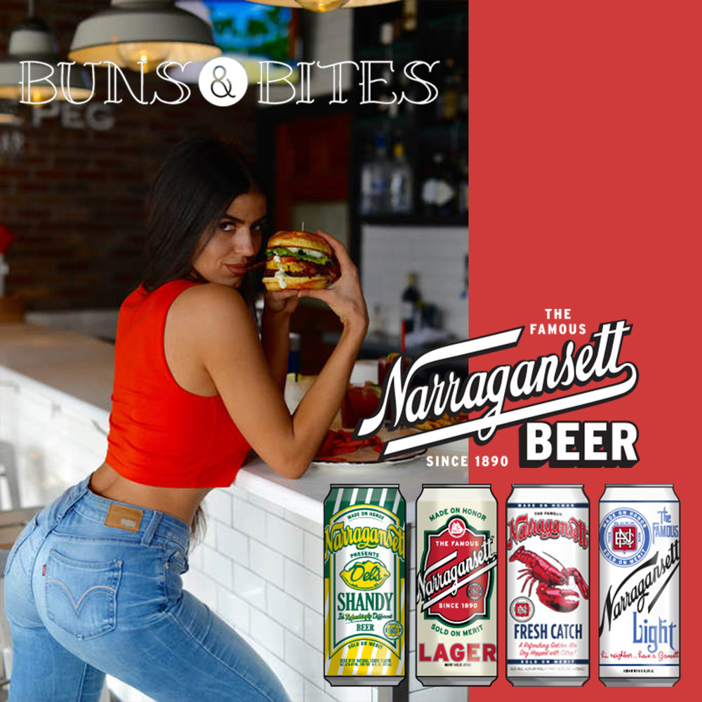 Special Guest Laura Afonso of @bunsandbites Sponsored by Narragansett Beer -